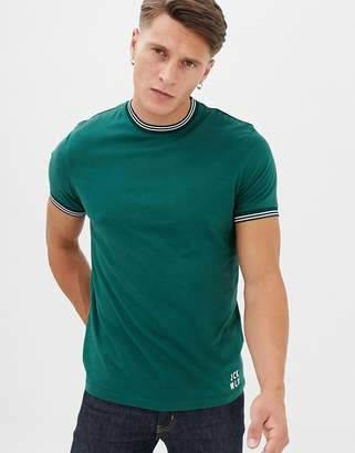 Jack Wills Rousting twin tipped t-shirt in green