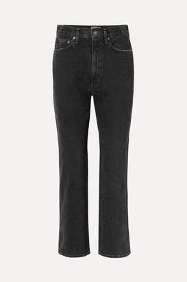 A Gold E AGOLDE - Pinch Waist High-rise Flared Jeans - Black