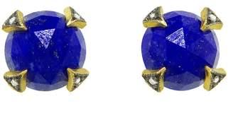 Cathy Waterman Rose Cut Lapis Thorn Stud Earrings