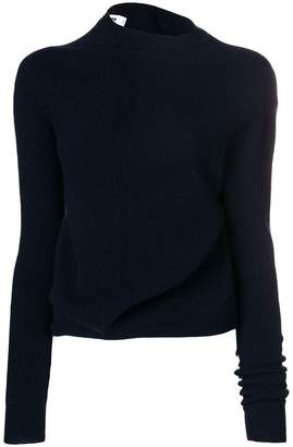 Jil Sander twisted jersey jumper