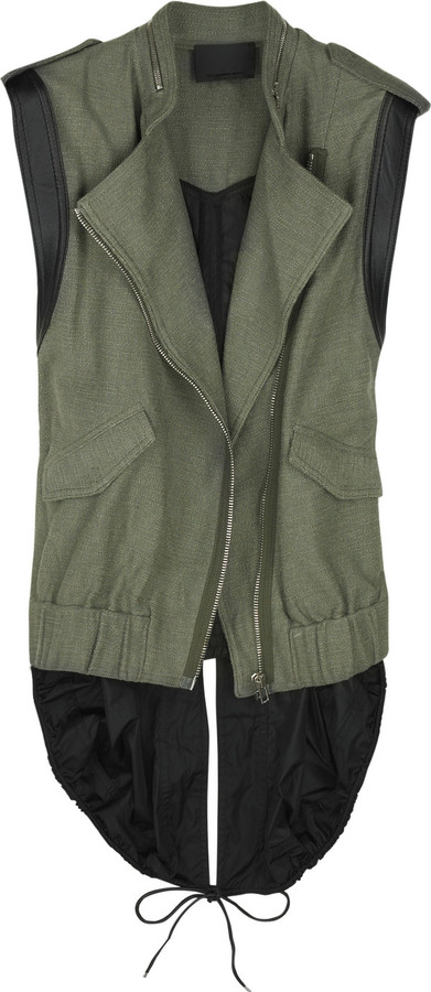 Alexander Wang Contrast back cotton-canvas vest