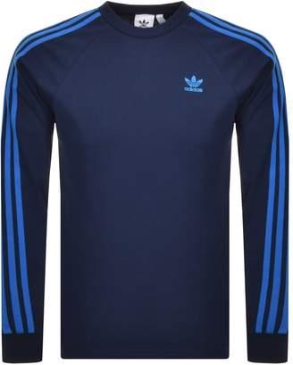 adidas Long Sleeve T Shirt Navy