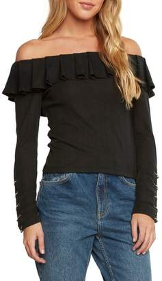 Willow & Clay Ribbed Off the Shoulder Top