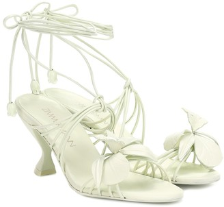 Zimmermann Orchid leather sandals