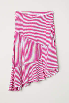 H&M Asymmetric Flounced Skirt - Pink