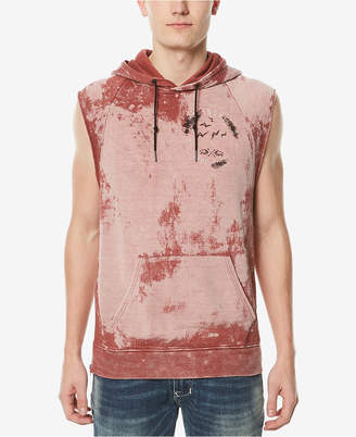 Buffalo David Bitton Men's Fowalk Graphic Hooded Tank Top