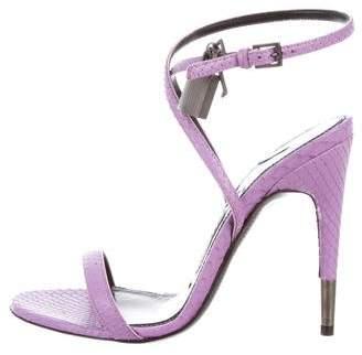 Tom Ford Snakeskin Padlock Sandals