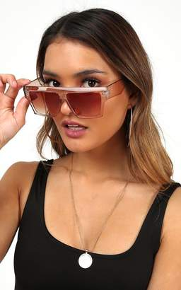 Showpo Timberlake sunglasses in Clear and Light brown Sale Accessories