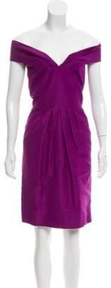 Oscar de la Renta Sleeveless Sheath Dress Purple Sleeveless Sheath Dress