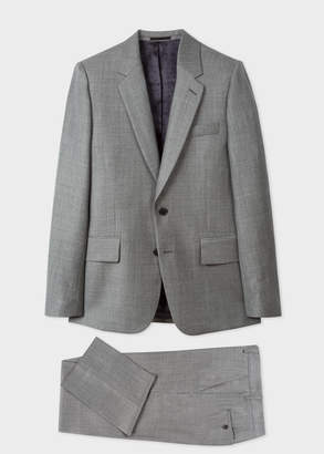 Paul Smith The Soho - Men's Tailored-Fit Dark Grey Marl Wool Suit