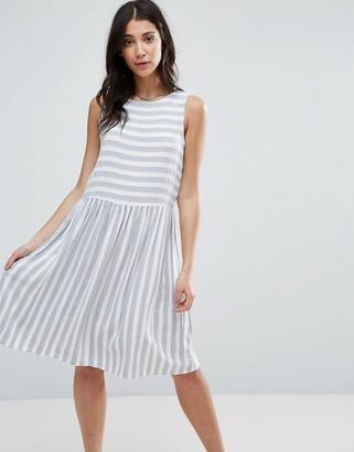 Vero Moda Striped Skater Dress $28 thestylecure.com