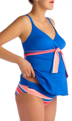 c52b559c17527 Pez D'or Devon Striped Two-Piece Maternity Swimsuit