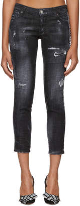 DSQUARED2 Black Twin Peaks Wash Jeans