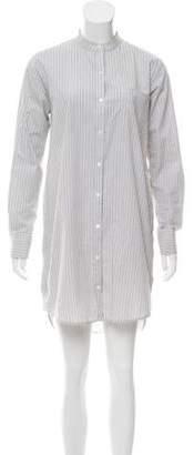 Theory Long Sleeve Shift Shirtdress