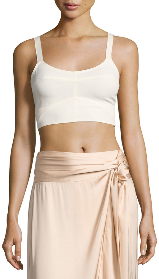 Elizabeth And James Elizabeth and James Chandler Cutout Bralette Top, Ecru