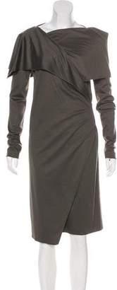 Maison Margiela Wool Asymmetrical Dress
