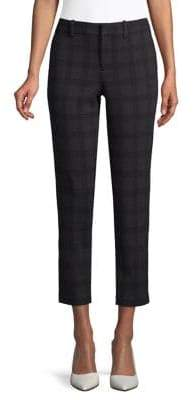Lord & Taylor Petite Plaid Ponte Ankle Pants