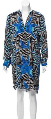 Mara Hoffman Long Sleeve Printed Dress