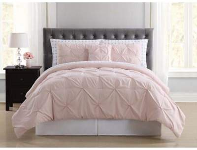Truly Soft Arrow Pleated 6-Piece Twin XL Comforter Set in Blush