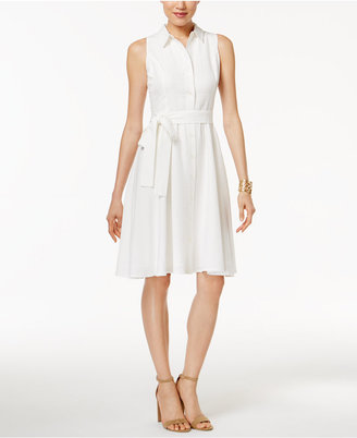 Tommy Hilfiger Belted A-Line Shirtdress $134 thestylecure.com