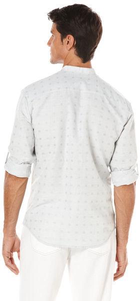 Cubavera Long Sleeve Herringbone Textured Shirt