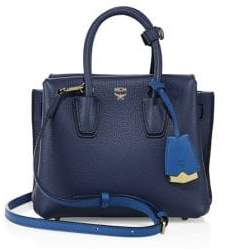 MCM Mini Milla Two-Tone Leather Tote