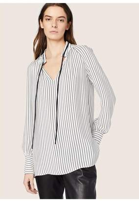 Derek Lam Sonia Stripped Long Sleeve Blouse