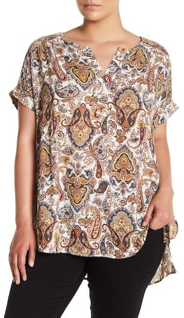DR2 by Pintuck Shoulder Tunic (Plus Size)