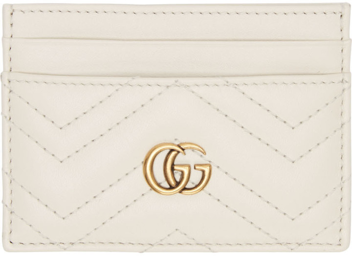 GucciGucci Off-White GG Marmont Card Holder