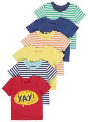 George 6 Pack Assorted T-Shirts