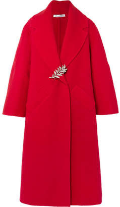 Oscar de la Renta Oversized Wool And Cashmere-blend Coat - Red