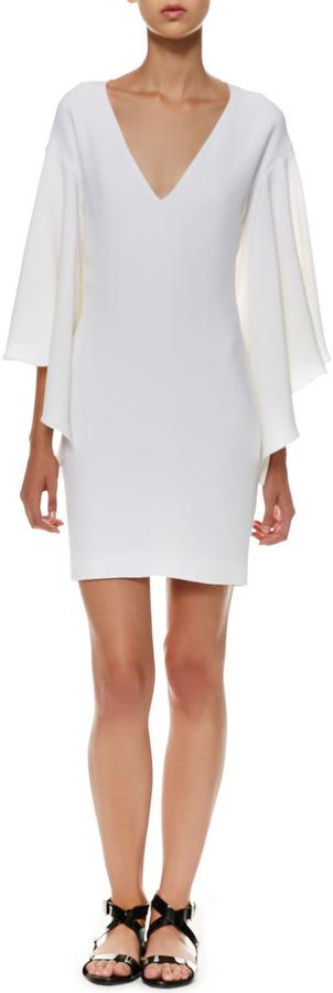 Ralph Lauren Black Label Lilian Flutter-Sleeve Dress