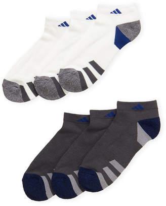 adidas 6-Pack Low Cut Moisture Wicking Socks