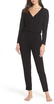 BB Dakota Miss Fix It Snap Front Jumpsuit Pajamas