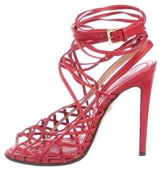 Emilio Pucci Leather Caged Sandals