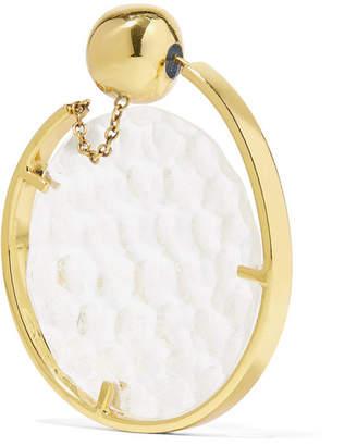 Ellery Low Art Revolving Gold-plated And Resin Hoop Earring