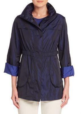 Armani Collezioni Bicolored Nylon Jacket $895 thestylecure.com