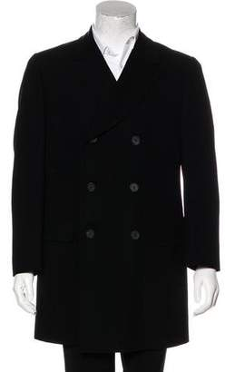 Gucci Double-Breasted Wool Overcoat