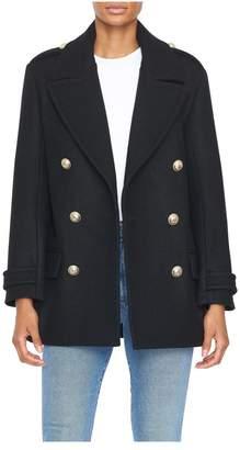 Balmain Four Button Wool Felt Short Coat