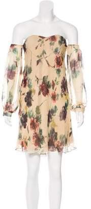 Haute Hippie Off-The-Shoulder Silk Dress w/ Tags