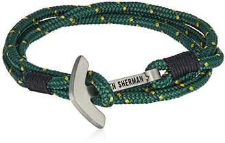 Ben Sherman Men's and Yellow Anchor Closure Wrap Bracelet