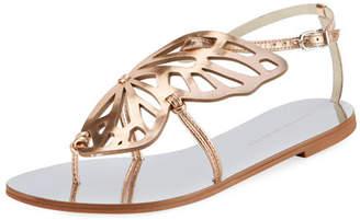 Sophia Webster Bibi Butterfly Flat Sandal, Silver