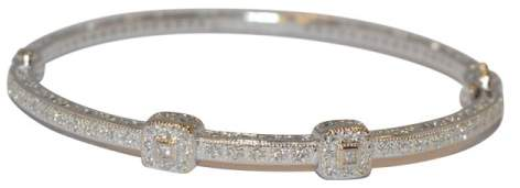 Charriol Charriol 18K White Gold 0.40cts Diamond Bangle Bracelet