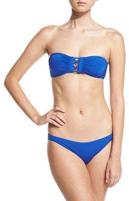Proenza Schouler Solid Bandeau Two-Piece Swimsuit, Lapis $300 thestylecure.com