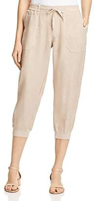 Three Dots Women's Woven Linen Cropped Jogger