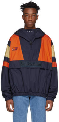 Martine Rose NAPA by Navy and Orange A-Huez Pullover Jacket