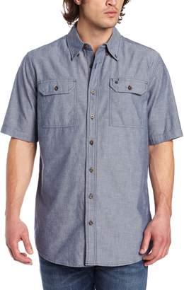 Carhartt Men's Big & Tall Fort Short Sleeve Shirt Lightweight Chambray Button Front