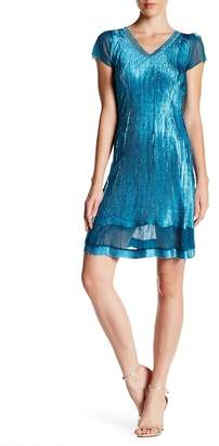 KOMAROV Beaded V-Neck Dress $318 thestylecure.com