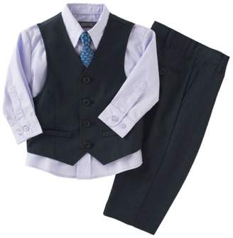 Kenneth Cole Reaction Kenneth Cole Boys 4-Piece Navy Vest & Dress Pants Set