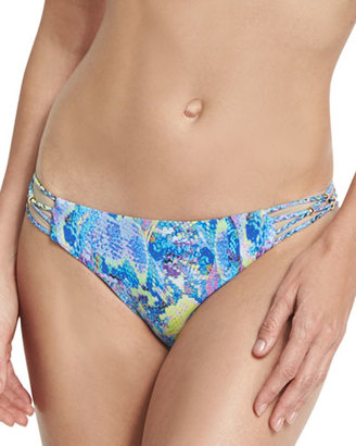 PilyQ Braided Full Swim Bottom, Blue $76 thestylecure.com